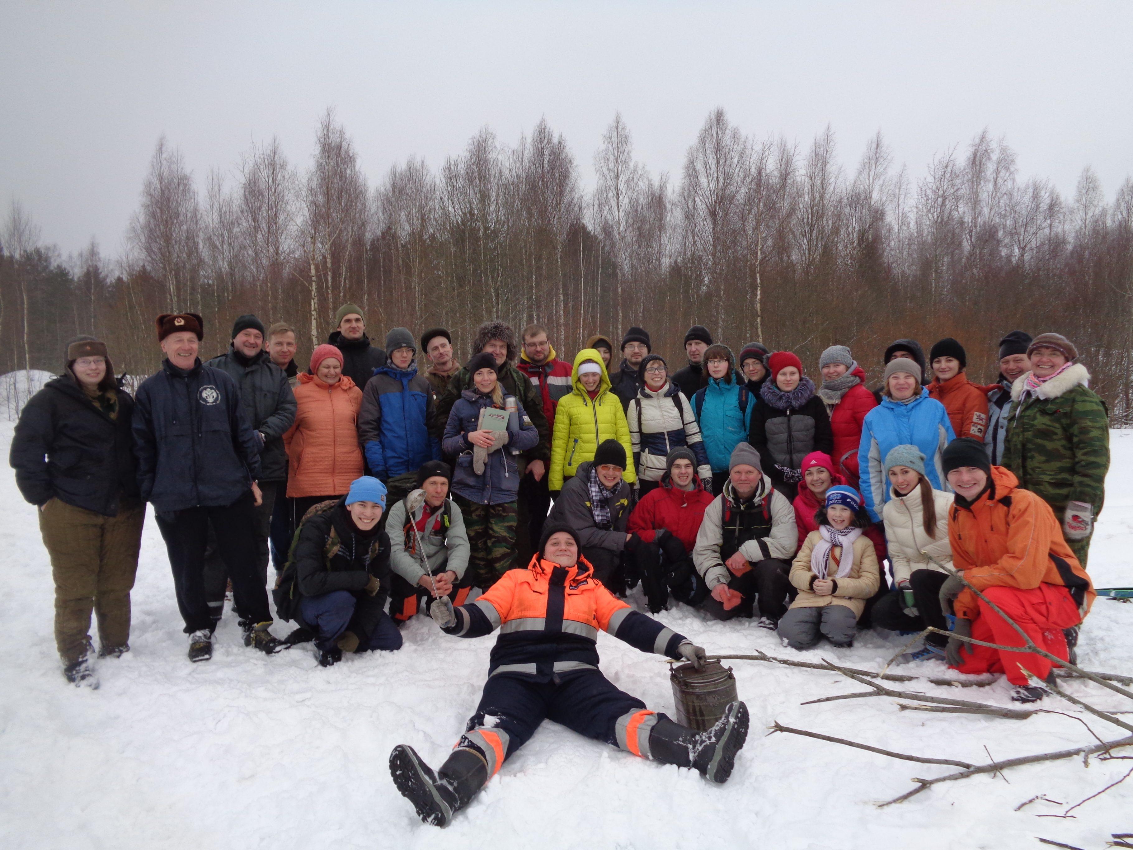 32 лыжный поход. 23 февраля 2019 г.